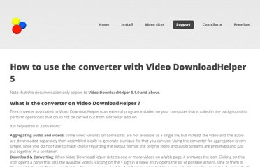 http://www.downloadhelper.net/conversion-manual.php