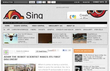 http://singularityhub.com/2010/03/16/adam-the-robot-scientist-makes-its-first-discovery/