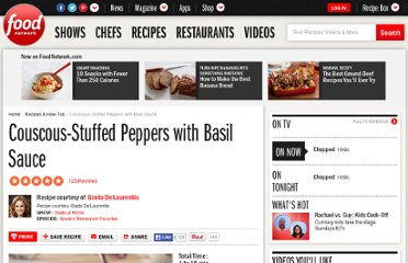 http://www.foodnetwork.com/recipes/giada-de-laurentiis/couscous-stuffed-peppers-with-basil-sauce-recipe/index.html