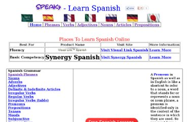 http://spanish.speak7.com/spanish_pronouns.htm