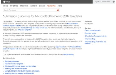 http://office.microsoft.com/en-us/templates/submission-guidelines-for-microsoft-office-word-2007-templates-HA010237363.aspx