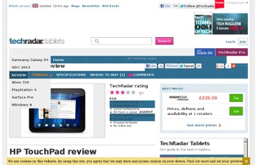 http://www.techradar.com/reviews/pc-mac/tablets/hp-touchpad-972226/review