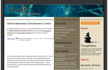http://www.thethoughts.co.uk/online-brainwave-entrainment-center/