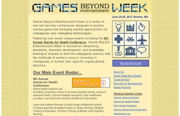 http://gamesbeyondentertainment.com/Games_Beyond_Entertainment_Week/Welcome.html