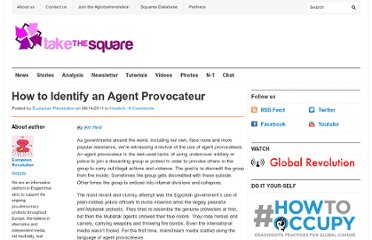 http://takethesquare.net/2011/08/14/how-to-identify-an-agent-provocateur/