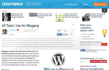 http://www.dreamgrow.com/40-tools-i-use-for-blogging/