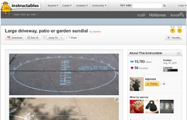 http://www.instructables.com/id/Large-driveway-sidewalk-or-garden-sundial/