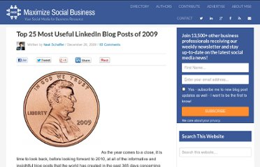 http://windmillnetworking.com/2009/12/26/top-25-most-useful-linkedin-blog-posts-of-2009/