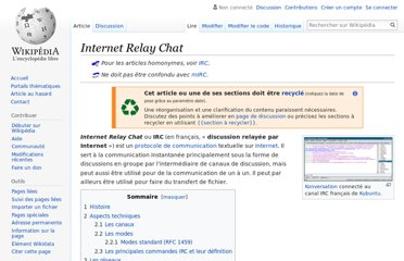 http://fr.wikipedia.org/wiki/Internet_Relay_Chat