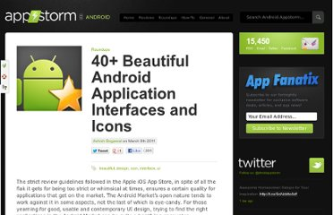 http://android.appstorm.net/roundups/40-beautiful-android-application-interfaces-and-icons/