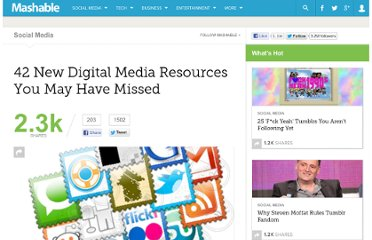 http://mashable.com/2011/08/21/digital-media-resources-28/