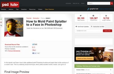 http://psd.tutsplus.com/tutorials/tutorials-effects/how-to-mold-paint-splatter-to-a-face-in-photoshop/