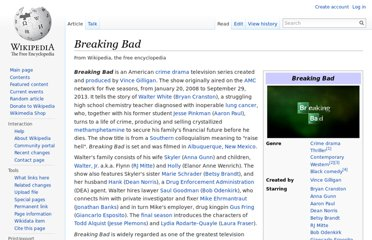 http://en.wikipedia.org/wiki/Breaking_Bad