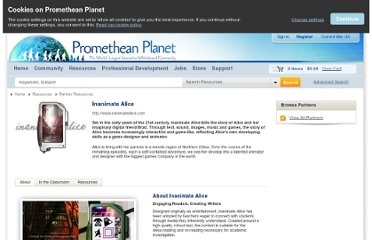 http://www.prometheanplanet.com/en-gb/resources/partner-resources/inanimate-alice/inanimate-alice.aspx