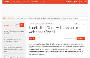 http://thenextweb.com/apple/2011/06/14/it-looks-like-icloud-will-have-some-web-apps-after-all/