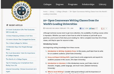 http://www.collegedegree.com/library/college-life/50-Open-courseware-writing-classes