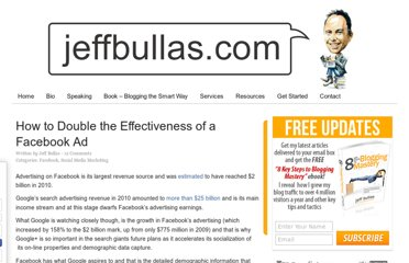 http://www.jeffbullas.com/2011/08/22/how-to-double-the-effectiveness-of-a-facebook-ad/