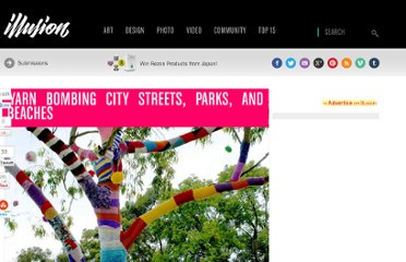 http://illusion.scene360.com/art/10524/yarn-bombing-city-streets-parks-and-beaches/