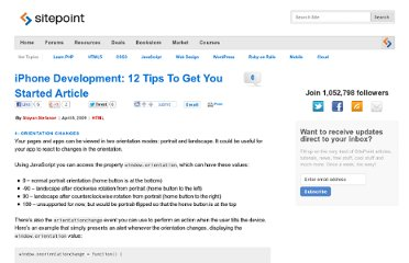 http://www.sitepoint.com/iphone-development-12-tips-2/