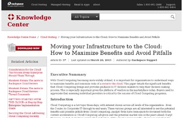 http://www.rackspace.com/knowledge_center/whitepaper/moving-your-infrastructure-to-the-cloud-how-to-maximize-benefits-and-avoid-pitfalls