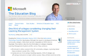 http://blogs.msdn.com/b/education/archive/2011/05/24/one-third-of-colleges-considering-changing-their-learning-management-system.aspx