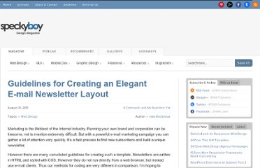 http://speckyboy.com/2011/08/21/guidelines-for-creating-an-elegant-e-mail-newsletter-layout/