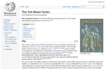 http://en.wikipedia.org/wiki/The_Sot-Weed_Factor