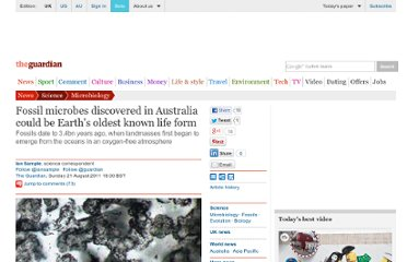 http://www.guardian.co.uk/science/2011/aug/21/fossil-microbes-western-australia