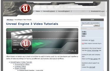 http://udn.epicgames.com/Three/VideoTutorials.html#Unreal%20Engine%203%20Video%20Tutorials
