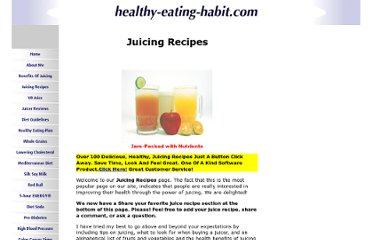 http://www.healthy-eating-habit.com/Juicingrecipes.html
