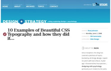 http://3.7designs.co/blog/2008/06/10-examples-of-beautiful-css-typography-and-how-they-did-it/