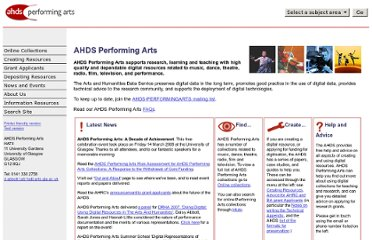 http://www.ahds.ac.uk/performingarts/