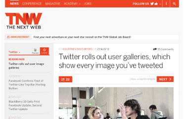 http://thenextweb.com/twitter/2011/08/22/twitter-rolls-out-user-galleries-which-show-every-image-youve-tweeted/