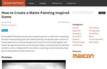 http://designinstruct.com/digital-art/how-to-create-a-matte-painting-inspired-scene/