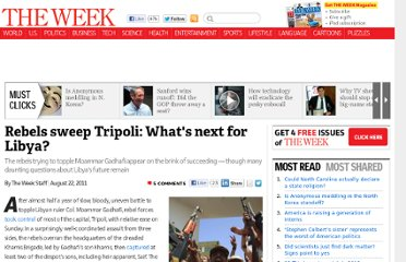 http://theweek.com/article/index/218446/rebels-sweep-tripoli-whats-next-for-libya