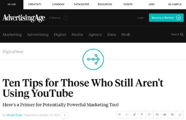 http://adage.com/article/digitalnext/ten-tips-youtube/146584/