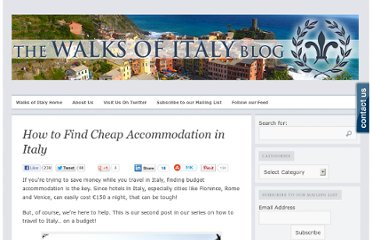 http://www.walksofitaly.com/blog/hotels/italy-budget-travel-cheap-accommodation
