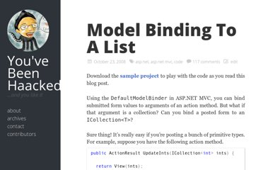 http://haacked.com/archive/2008/10/23/model-binding-to-a-list.aspx