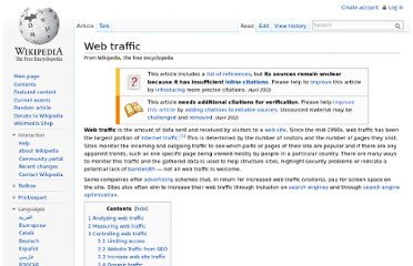 http://en.wikipedia.org/wiki/Web_traffic