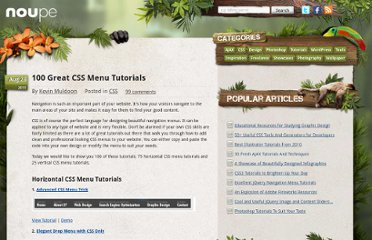 http://www.noupe.com/css/100-great-css-menu-tutorials.html