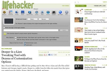 http://lifehacker.com/5833412/deeper-is-a-lion-tweaking-tool-with-dozens-of-customization-options