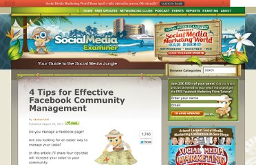 http://www.socialmediaexaminer.com/4-tips-for-effective-facebook-community-management/