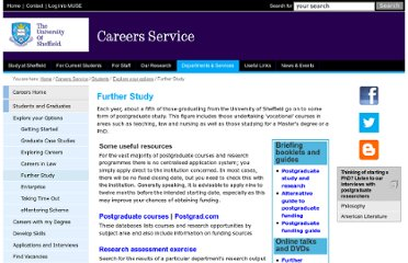 http://www.sheffield.ac.uk/careers/students/worktypes/study