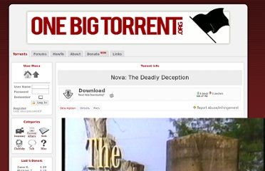 http://onebigtorrent.org/torrents/5388/Nova-The-Deadly-Deception