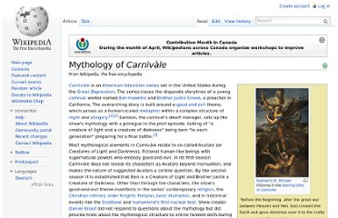 http://en.wikipedia.org/wiki/Mythology_of_Carniv%C3%A0le