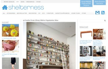 http://www.shelterness.com/15-creative-home-library-shelves-organization-ideas/