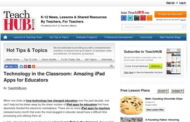 http://www.teachhub.com/20-amazing-ipad-apps-educators