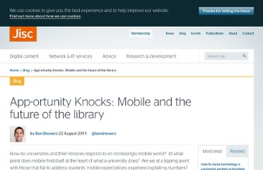 http://www.jisc.ac.uk/blog/mobilelibrary/