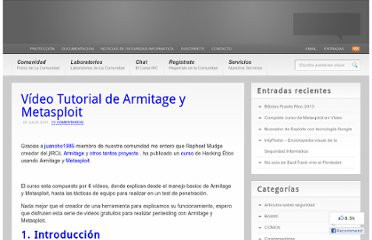 http://www.dragonjar.org/video-tutorial-de-armitage-y-metasploit.xhtml