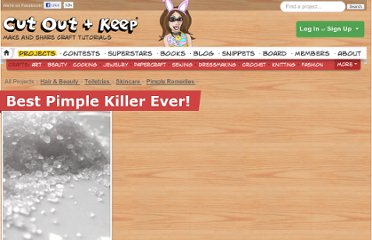 http://www.cutoutandkeep.net/projects/best_pimple_killer_ever